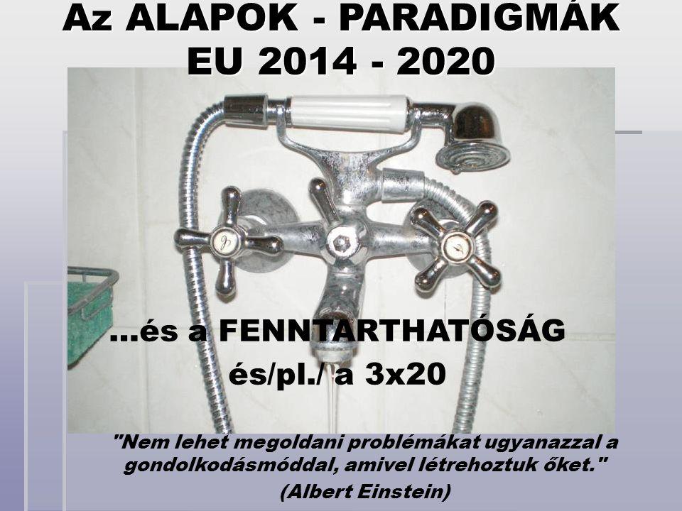 EU 2014 - 2020 …és a FENNTARTHATÓSÁG és/pl./ a 3x20 Az ALAPOK - PARADIGMÁK