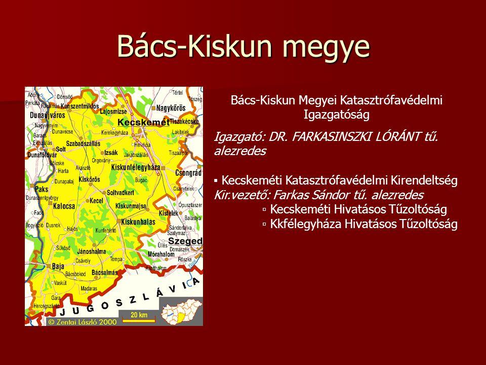 Bács-Kiskun megye Bács-Kiskun Megyei Katasztrófavédelmi Igazgatóság Igazgató: DR.