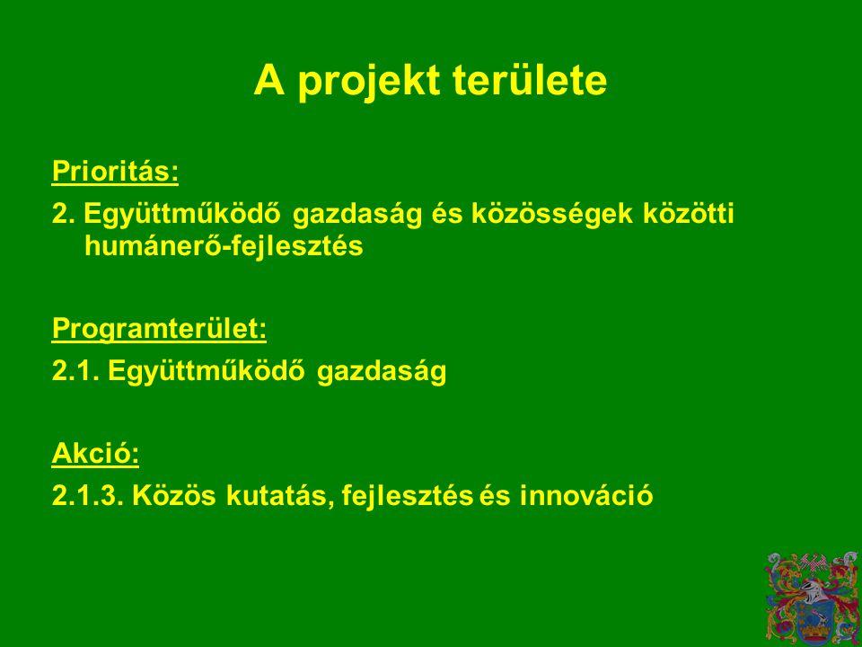 Prioritás: 2. Együttműködő gazdaság és közösségek közötti humánerő-fejlesztés Programterület: 2.1.