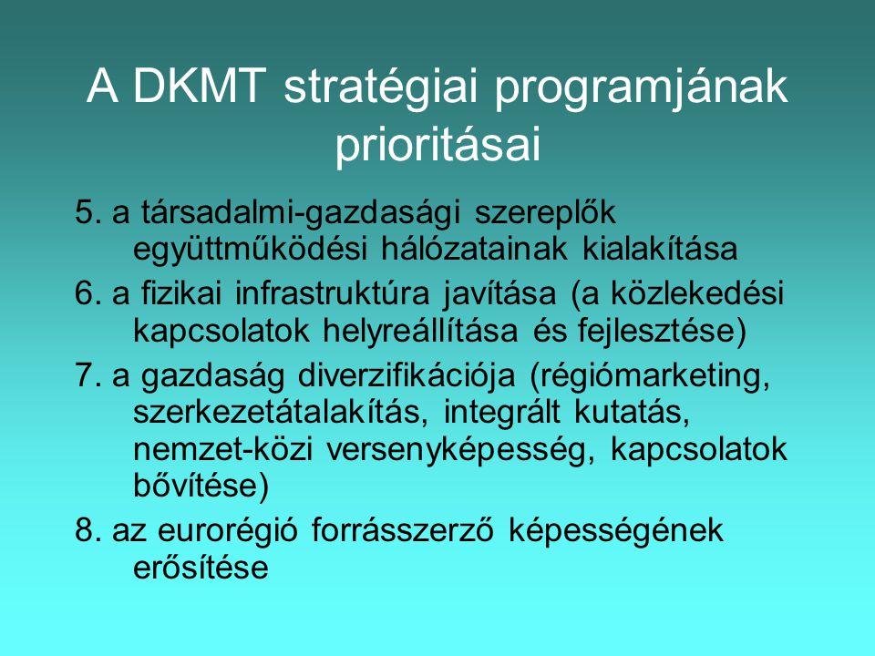 A DKMT stratégiai programjának prioritásai 5.