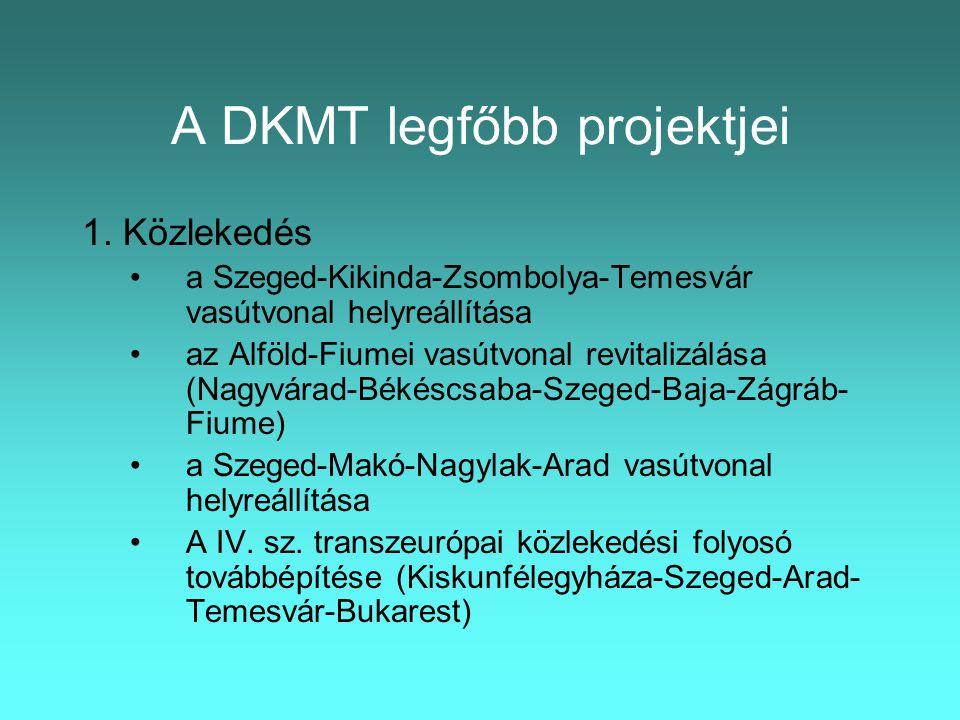 A DKMT legfőbb projektjei 1.
