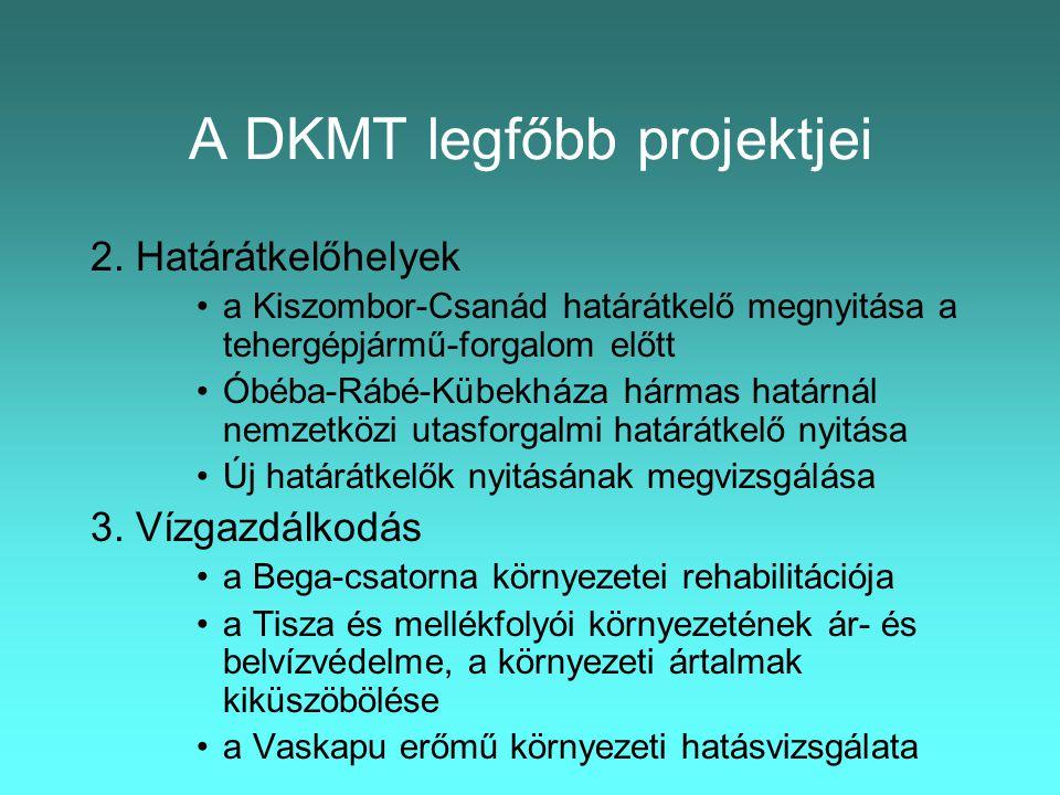 A DKMT legfőbb projektjei 2.