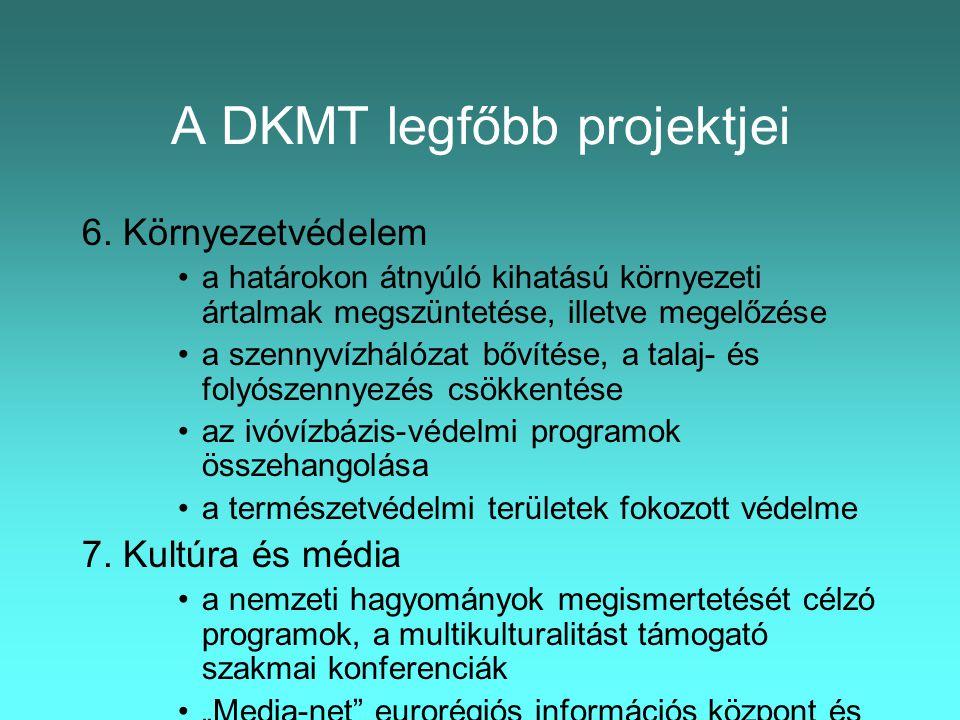 A DKMT legfőbb projektjei 6.
