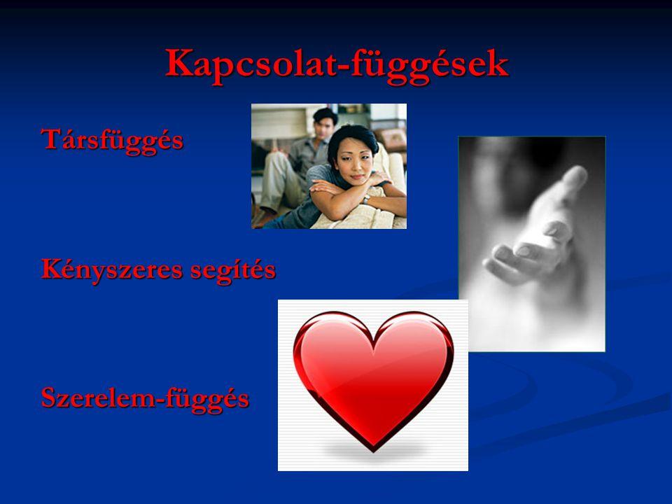 Kapcsolat-függések Társfüggés Kényszeres segítés Szerelem-függés