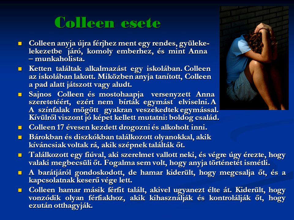 Colleen esete  Colleen anyja újra férjhez ment egy rendes, gyüleke- lekezetbe járó, komoly emberhez, és mint Anna – munkaholista.