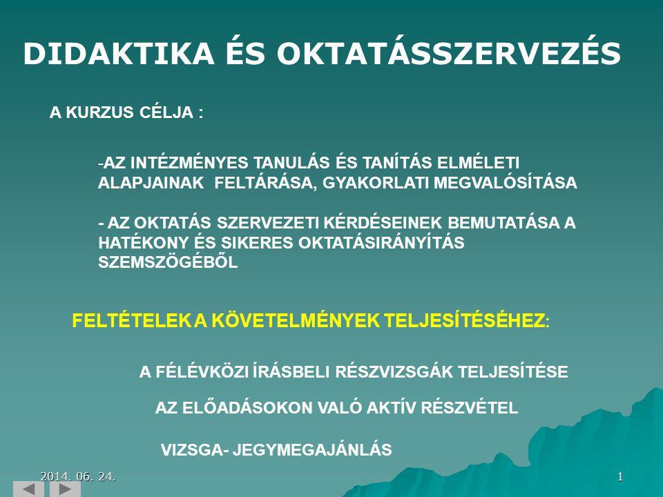 82 LECKETÉMA TANANYAG TARTALOM KÖVETELMÉNY 1.MODUL 2.