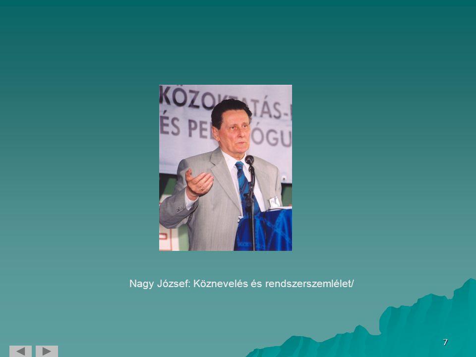 7 Nagy József: Köznevelés és rendszerszemlélet/