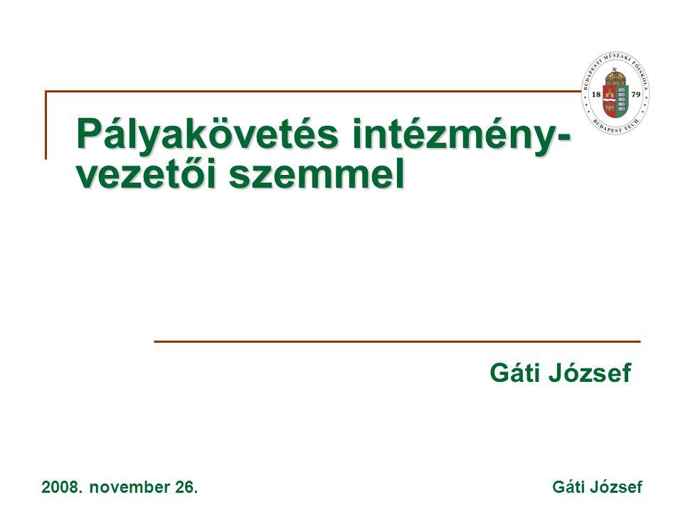 2008. november 26. Gáti József Pályakövetés intézmény- vezetői szemmel Gáti József