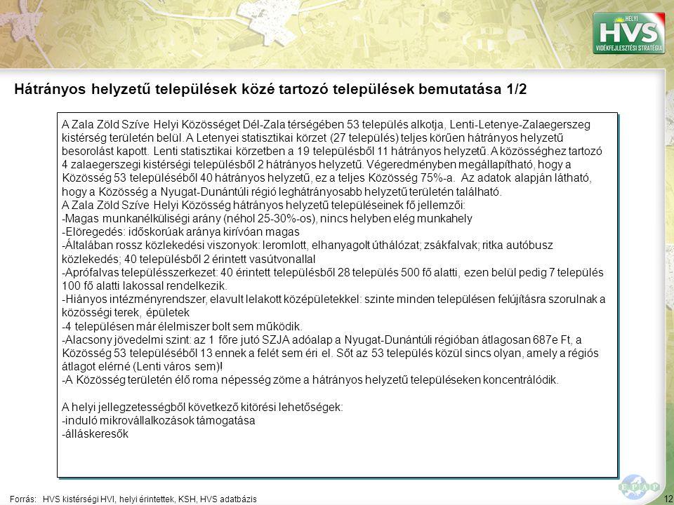 12 A Zala Zöld Szíve Helyi Közösséget Dél-Zala térségében 53 település alkotja, Lenti-Letenye-Zalaegerszeg kistérség területén belül. A Letenyei stati