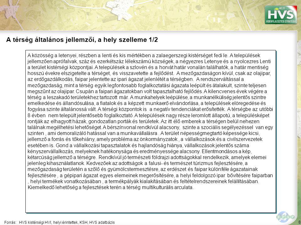 8 A közösség a letenyei, részben a lenti és kis mértékben a zalaegerszegi kistérséget fedi le. A települések jellemzően aprófalvak, száz és ezerkétszá