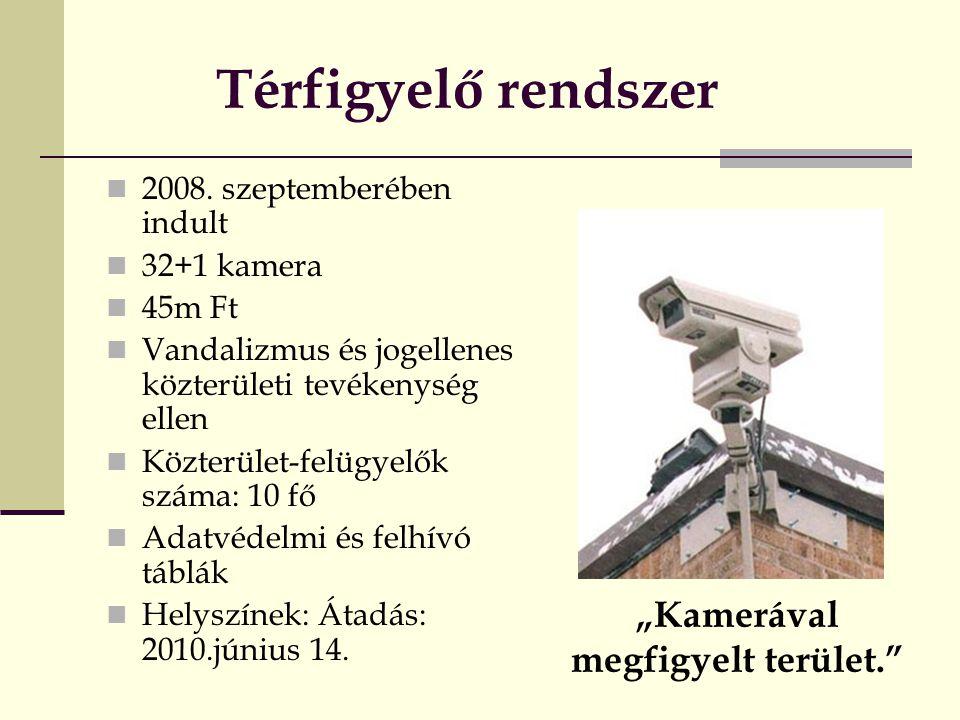 Térfigyelő rendszer  2008.