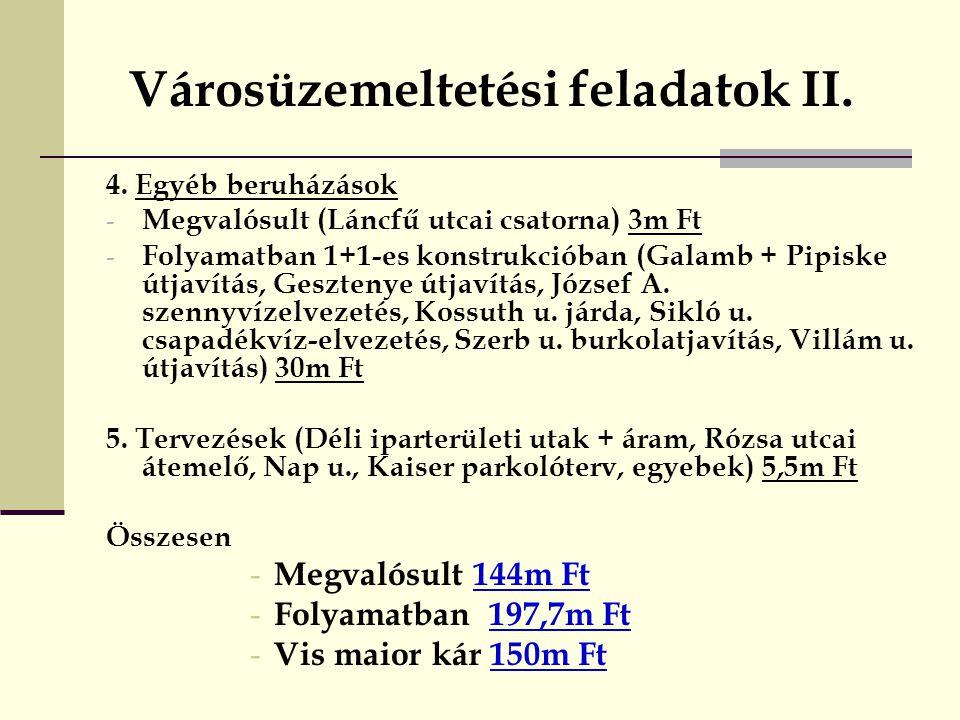 Városüzemeltetési feladatok II.4.