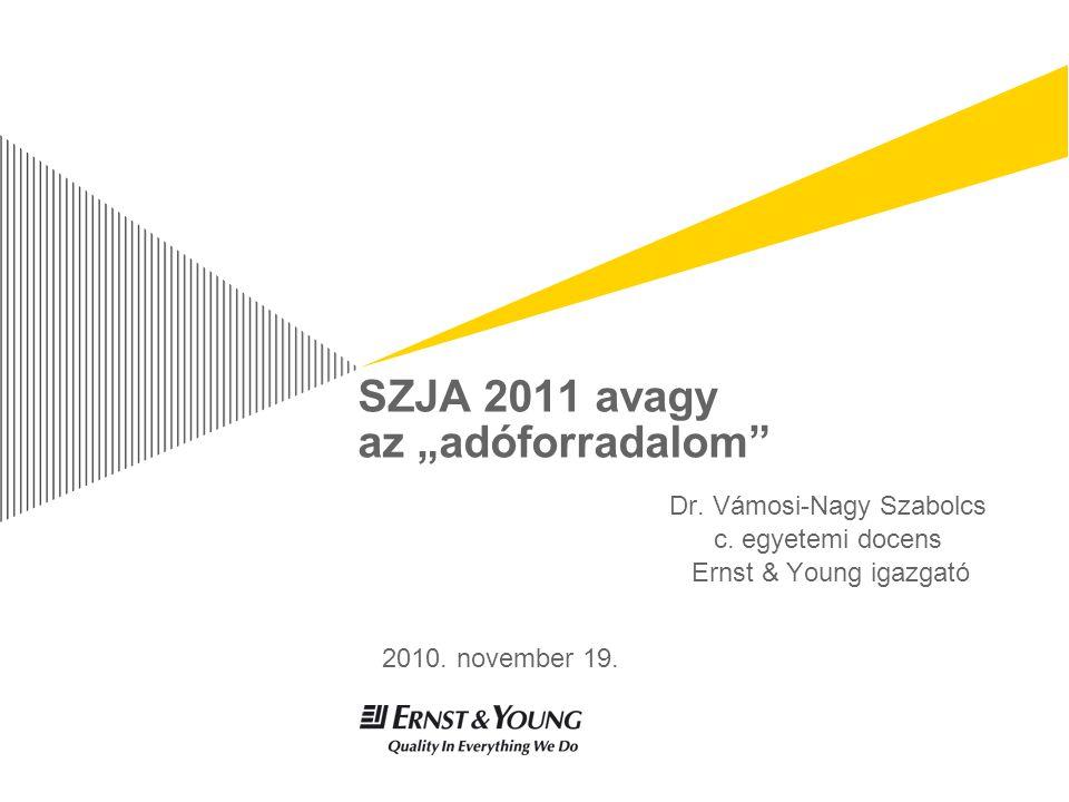 """SZJA 2011 avagy az """"adóforradalom Dr. Vámosi-Nagy Szabolcs c."""