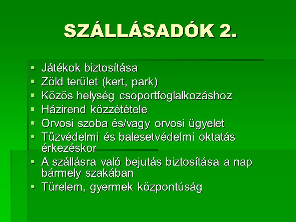 SZÁLLÁSADÓK 2.