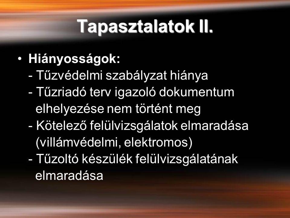 Tapasztalatok II.
