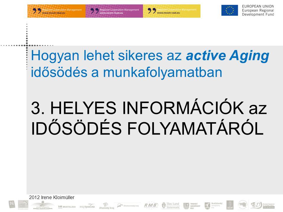 2012 Irene Kloimüller Hogyan lehet sikeres az active Aging idősödés a munkafolyamatban 3.