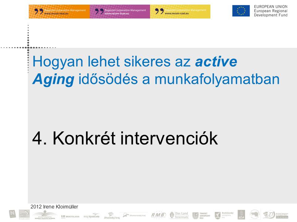 2012 Irene Kloimüller Hogyan lehet sikeres az active Aging idősödés a munkafolyamatban 4.