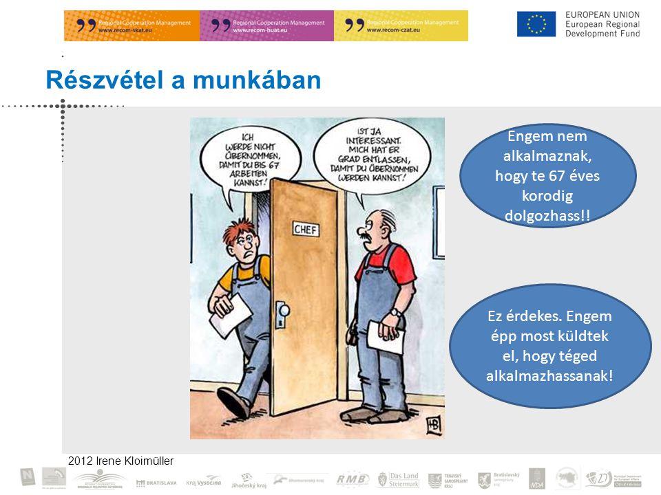 2012 Irene Kloimüller Részvétel a munkában Engem nem alkalmaznak, hogy te 67 éves korodig dolgozhass!.