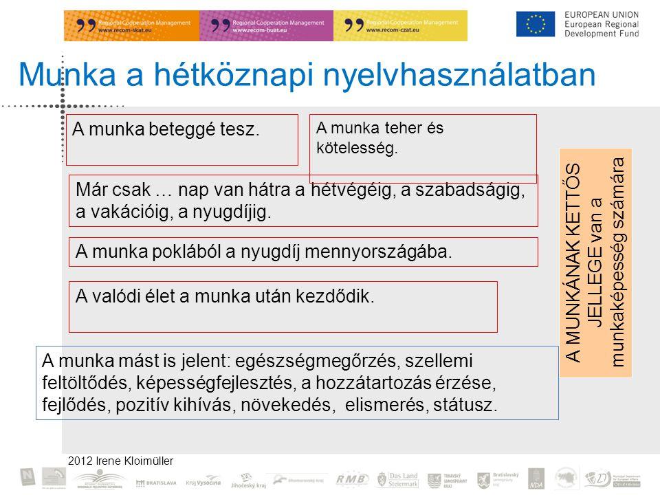2012 Irene Kloimüller A munka beteggé tesz.