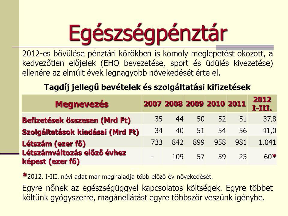 Egészségpénztár 2012-es bővülése pénztári körökben is komoly meglepetést okozott, a kedvezőtlen előjelek (EHO bevezetése, sport és üdülés kivezetése)