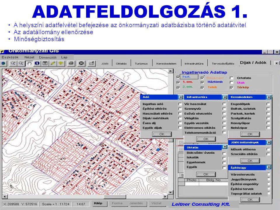 Leitner József + Borsi László13 ADATFELDOLGOZÁS 1.