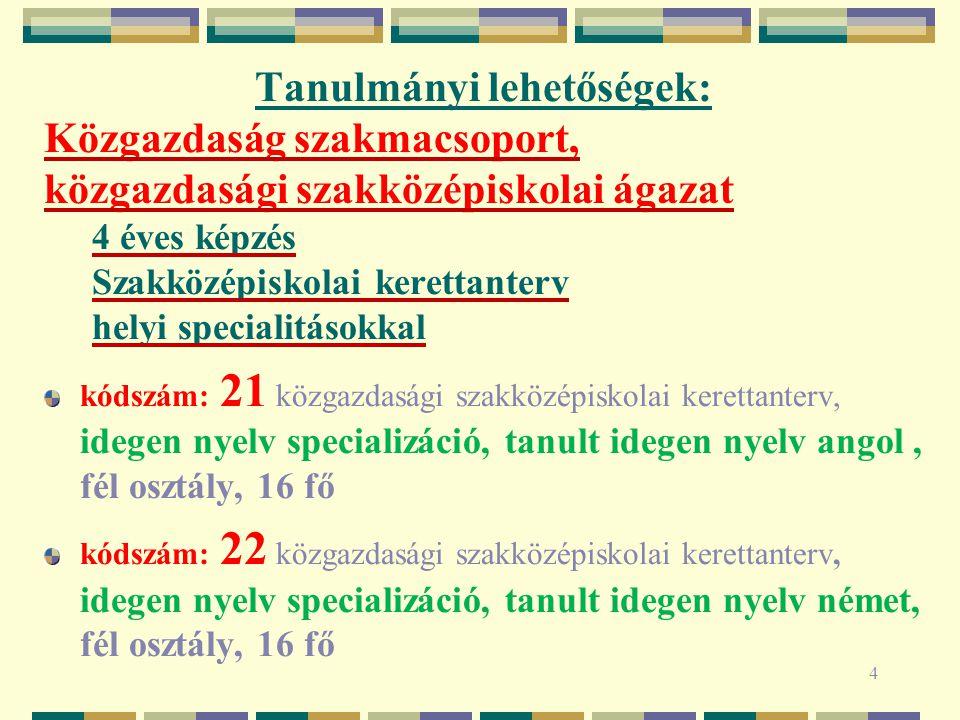 MATEMATIKA SPECIALIZÁCIÓ 5 Tantárgyak9.évf.10. évf.11.