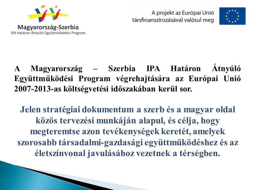 A Magyarország–Szerbia IPA Határon Átnyúló Együttműködési Program 2007 és 2013 között valósul meg IPA (előcsatlakozási támogatási eszköz) programként.