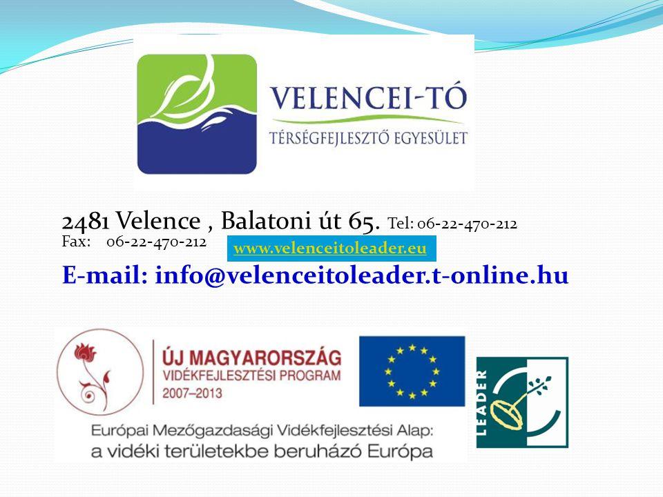 2481 Velence, Balatoni út 65.