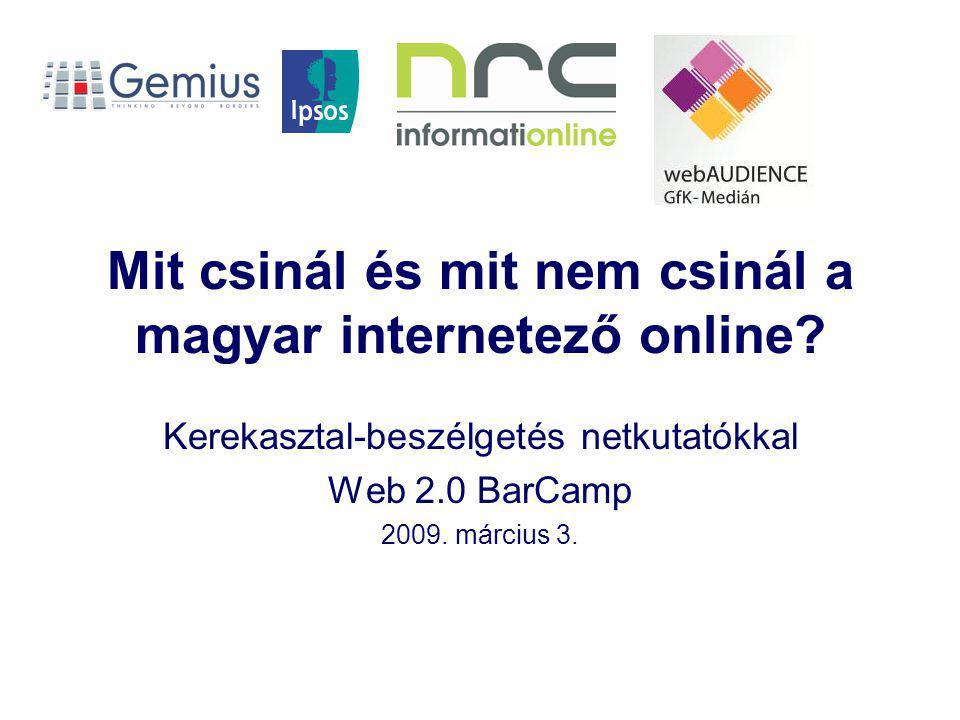 Mit csinál és mit nem csinál a magyar internetező online.