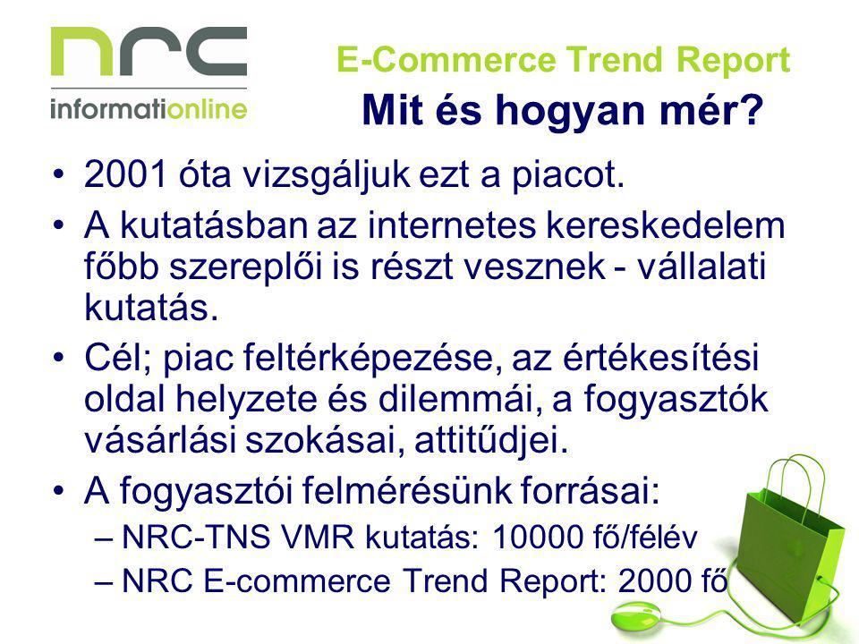 5 E-Commerce Trend Report Mit és hogyan mér.•2001 óta vizsgáljuk ezt a piacot.