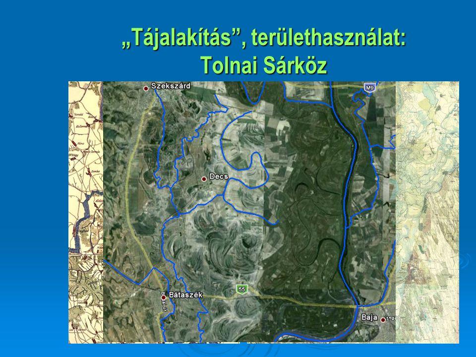"""""""Tájalakítás"""", területhasználat: Tolnai Sárköz"""