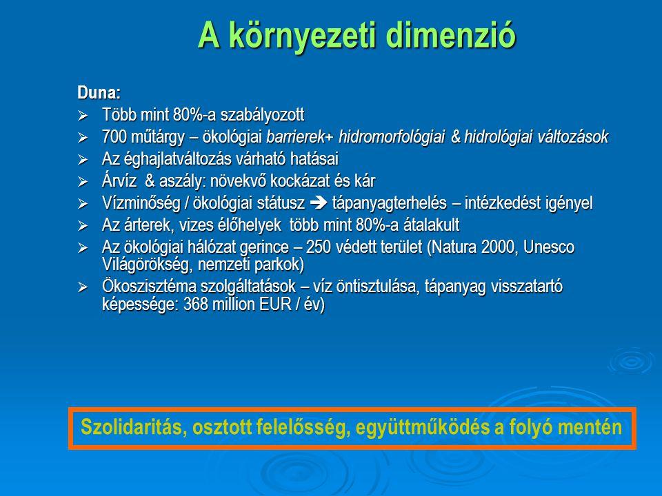 Duna menti árterek területének csökkenése