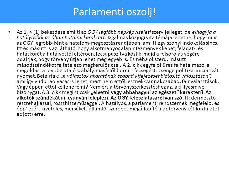 Parlamenti oszolj. • Az 1.
