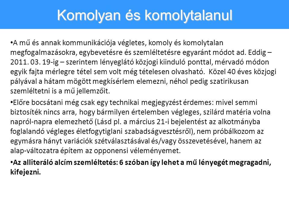 M.E.és klauzulák • A 15.
