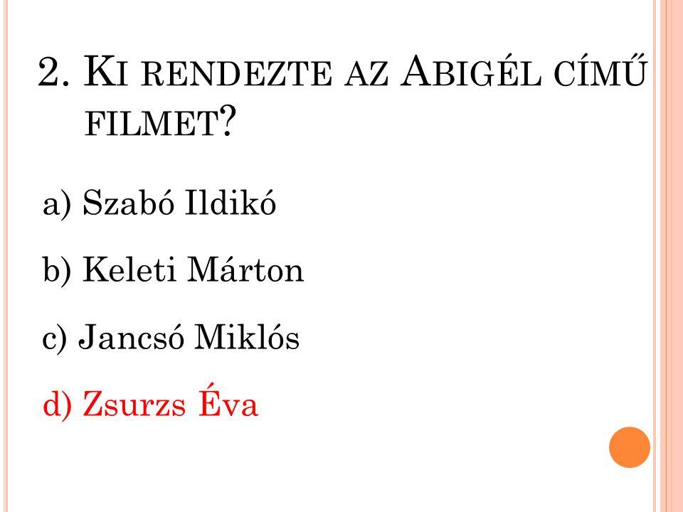 1.M ELYIK FILM ZENESZERZŐJE V ANGELIS .