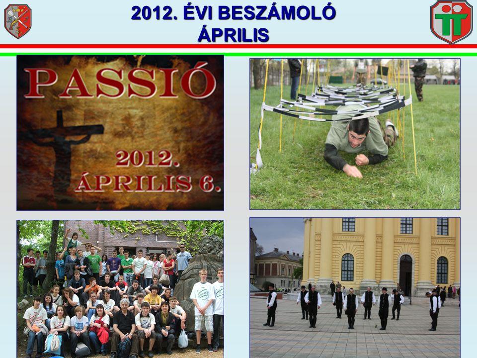 2012. ÉVI BESZÁMOLÓ ÁPRILIS