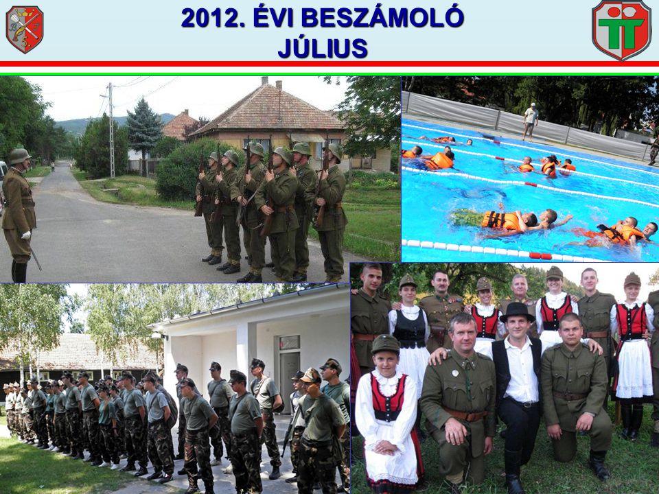 2012. ÉVI BESZÁMOLÓ JÚLIUS