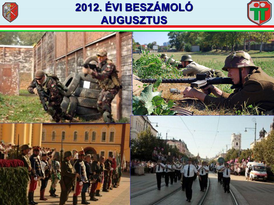 2012. ÉVI BESZÁMOLÓ AUGUSZTUS