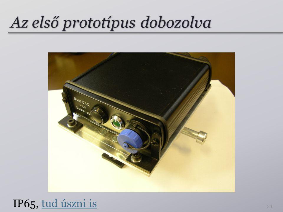 Az első prototípus dobozolva IP65, tud úszni istud úszni is 34