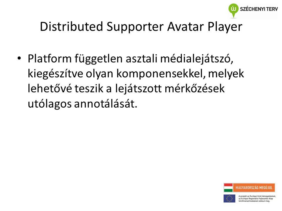 Distributed Supporter Avatar Player • Platform független asztali médialejátszó, kiegészítve olyan komponensekkel, melyek lehetővé teszik a lejátszott