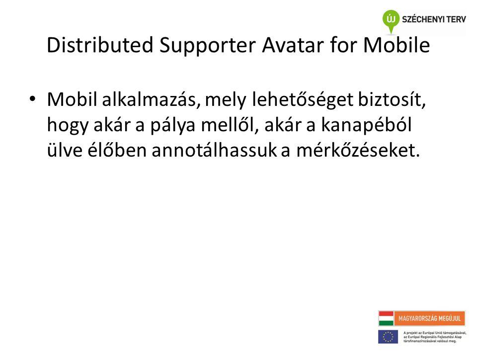 Distributed Supporter Avatar for Mobile • Mobil alkalmazás, mely lehetőséget biztosít, hogy akár a pálya mellől, akár a kanapéból ülve élőben annotálh