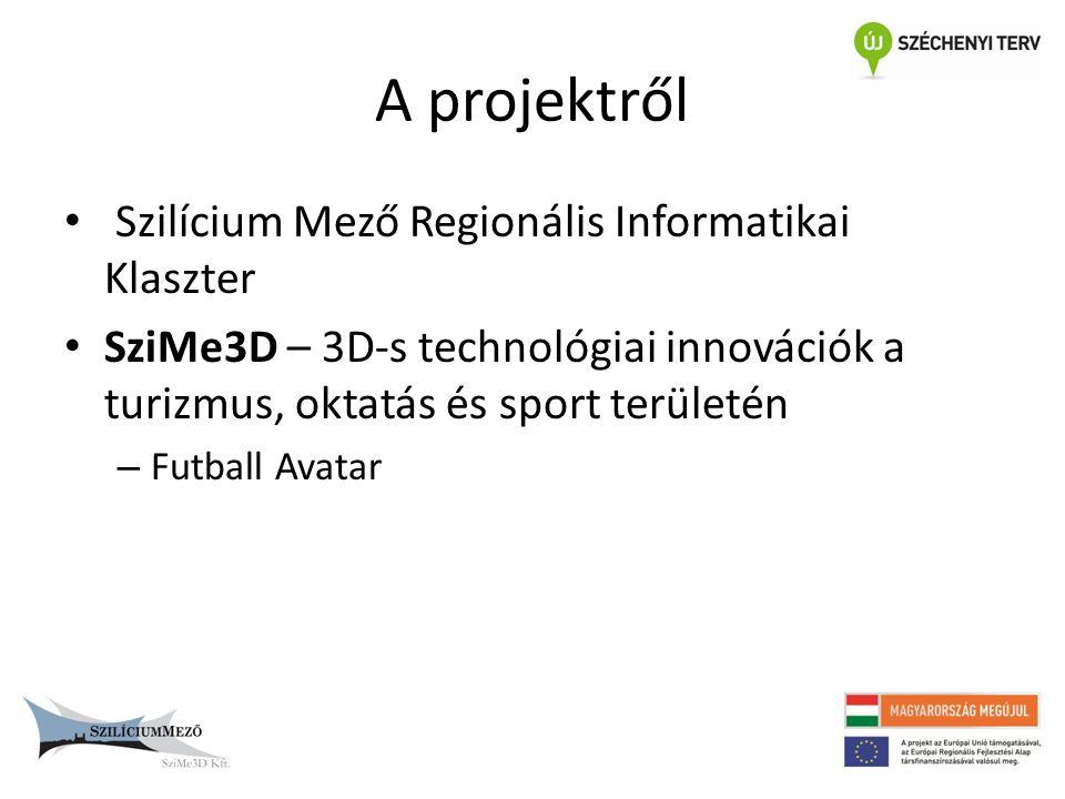 A projektről • Szilícium Mező Regionális Informatikai Klaszter • SziMe3D – 3D-s technológiai innovációk a turizmus, oktatás és sport területén – Futba