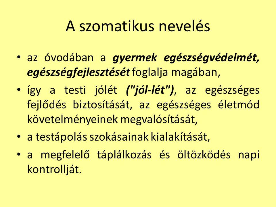 I. A TESTI (SZOMATIKUS) NEVELÉS FŐBB FELADATAI 4