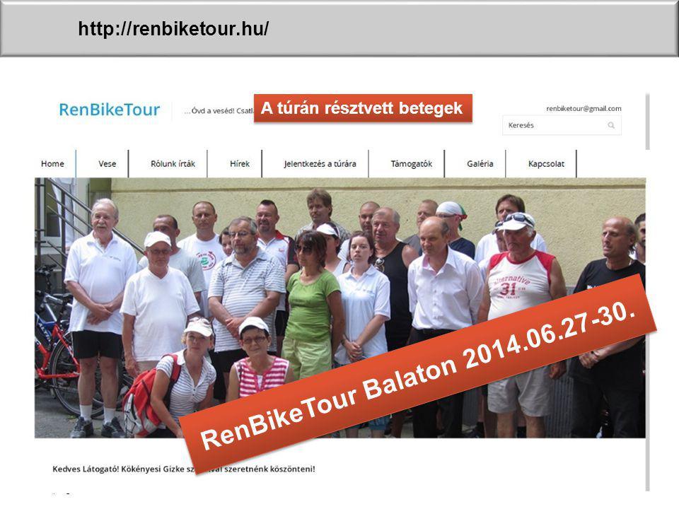 sl | Page36 http://renbiketour.hu/ A túrán résztvett betegek RenBikeTour Balaton 2014.06.27-30.