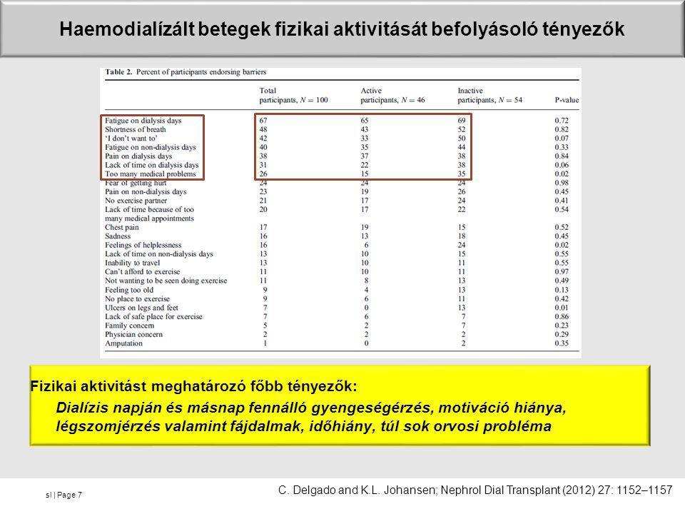sl | Page •A betegek csak 8 %-a nem jelölt meg fizikai aktivitást korlátozó tényezőt.