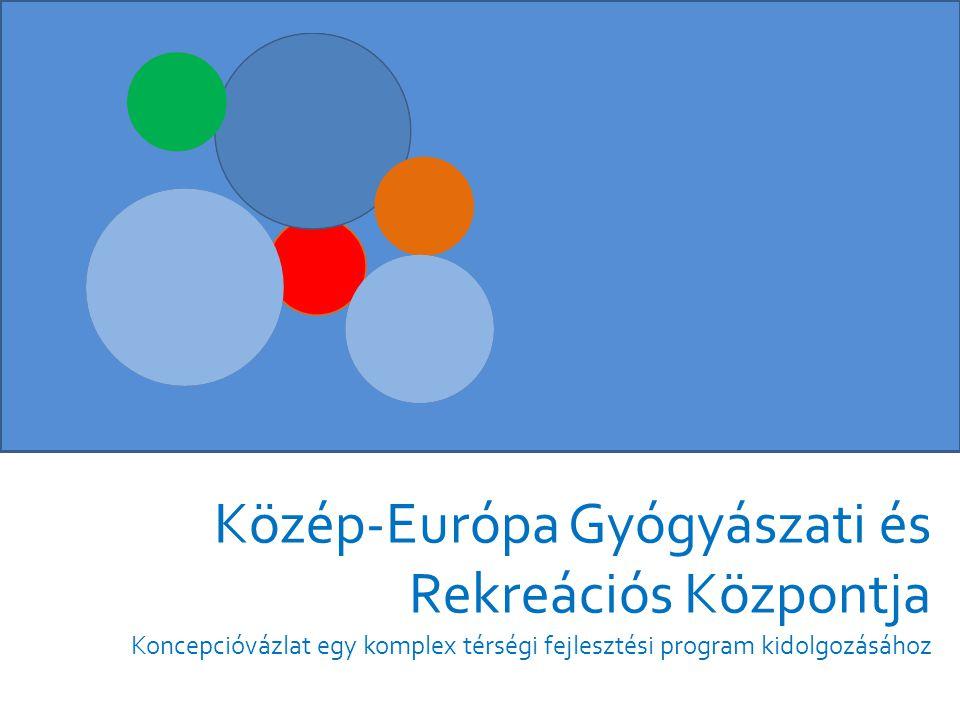 • A magyar egészség- turizmusban rejlő növekedési lehetőségek tudatos kihasználása, Közép-Európa rekreációs központjává válás • Külföldi versenytársak utolérése a turizmusipar területén • 2014-2028 között a vendégek számának megduplázása, a vendégéjszakák számának két és félszeresre növelése • Térség GDP-hez való hozzájárulásának 1 % fölé emelése 2020-ra Gazdasági célok