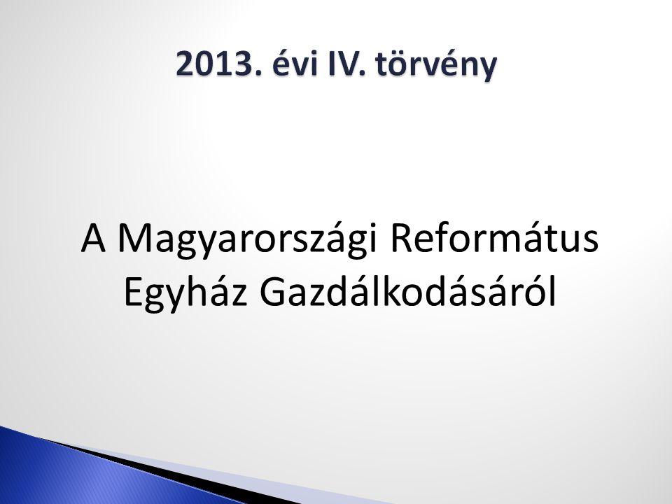 A Magyarországi Református Egyház Gazdálkodásáról