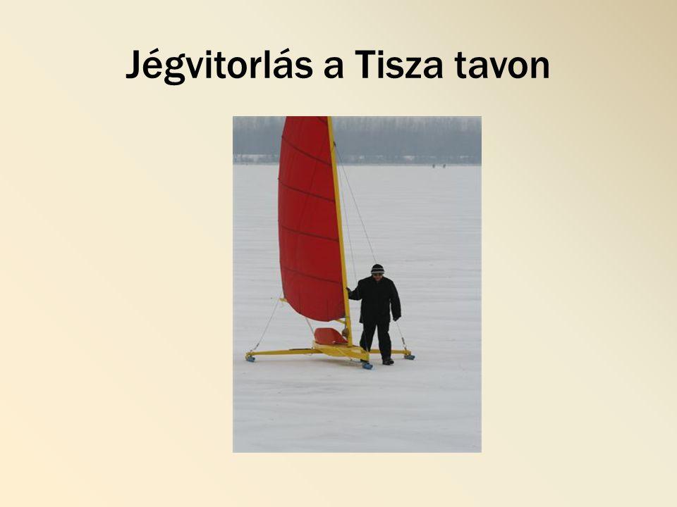 Jégvitorlás a Tisza tavon