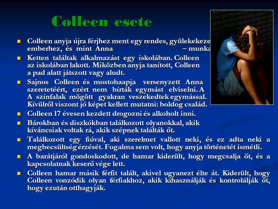 Colleen esete  Colleen anyja újra férjhez ment egy rendes, gyülekekezetbe járó, komoly emberhez, és mint Anna – munkaholista.  Ketten találtak alkal