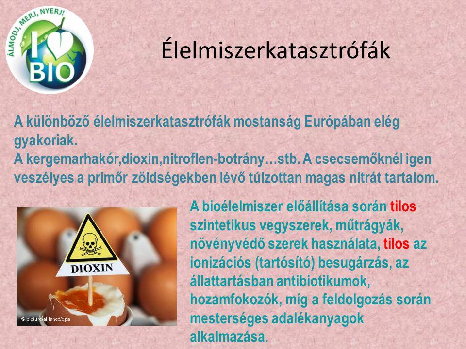 Élelmiszerkatasztrófák A különböző élelmiszerkatasztrófák mostanság Európában elég gyakoriak. A kergemarhakór,dioxin,nitroflen-botrány…stb. A csecsemő